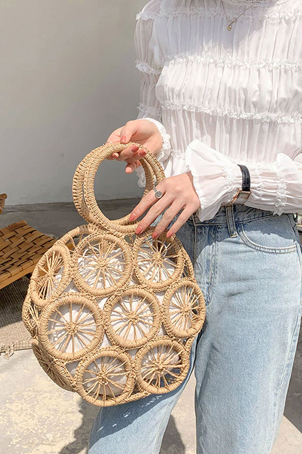 Boho Bag, Woven Rope Handbag, Bartley