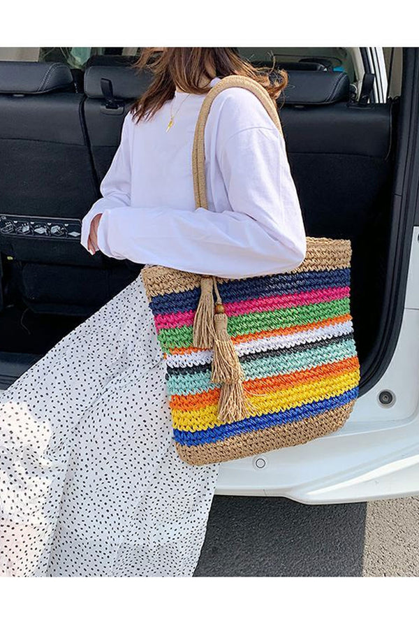 Boho Bag, Woven Rope Handbag, Freedom