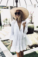 Load image into Gallery viewer, Beach Dress, Cover Up, White Ruffle Lucy