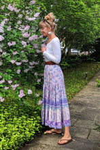 Load image into Gallery viewer, Boho Skirt, Wild Poinciana in Purple