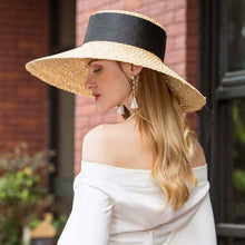 Load image into Gallery viewer, Boho Hat, Sun Hat, Beach Hat, Wide Brim Straw Hat