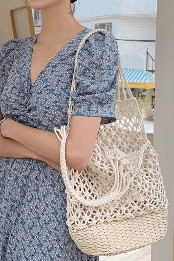 Boho Bag, Woven Mesh Rope Tote Bag Vano