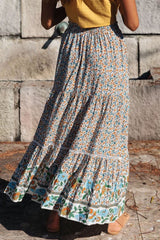 Boho Skirt, Maxi Skirt, Heather in Dusty Green