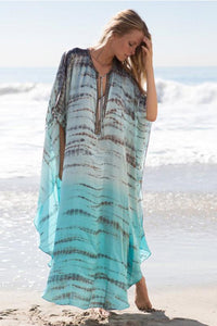 Beach Dress, Cover Up, Kaftan, Chiffon Tie Dye
