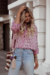 Boho Blouse, Jasmine in Pink