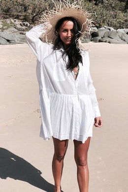 Beach Dress, Cover Up, Shirt Dress Lilly