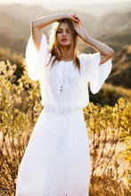 Load image into Gallery viewer, Maxi Boho Dress,  Beach Dress, White Andria