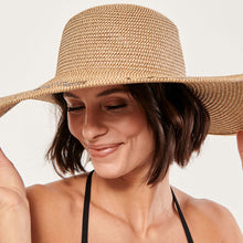 Load image into Gallery viewer, Boho Hat, Sun Hat, Beach Hat, Extra Large Wide Brim, Straw Hat, (Soft, 25 cm)