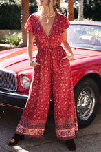 Load image into Gallery viewer, Boho Jumpsuit, Pantsuit, Amelie in Berry
