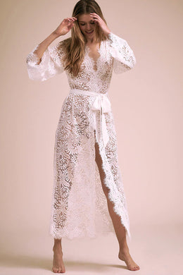 Beach Dress, Cover Up, Robe, White Lace Anna