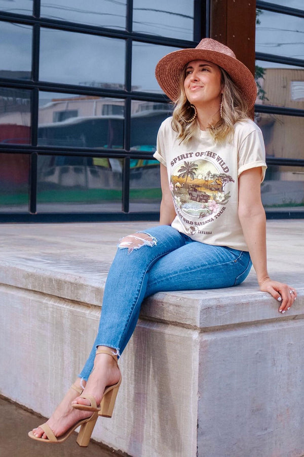 Boho Tee, Vintage T Shirt, Old Jeep
