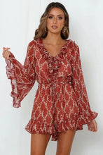 Load image into Gallery viewer, Boho Jumpsuit, Romper, Playsuit, Ruffle Wild Floral Paisley