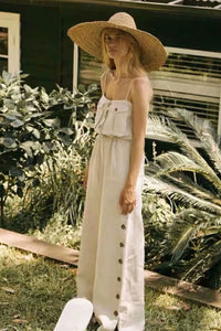 Boho Jumpsuit, Romper, Playsuit in Ivory