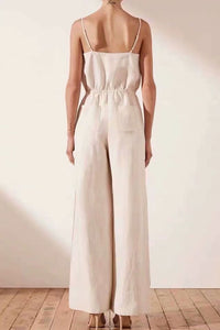 Boho Jumpsuit, Romper, Playsuit, Pamelo in Ivory
