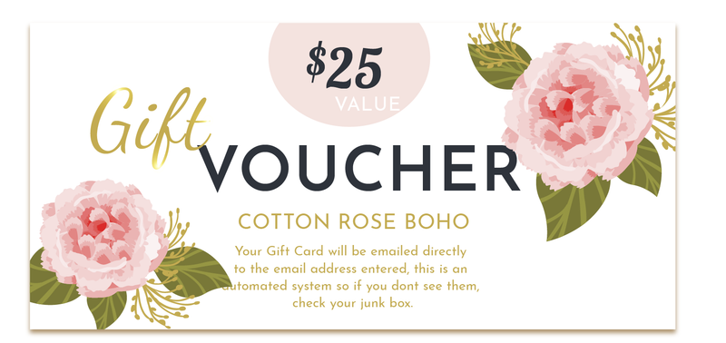 Cotton Rose Boho Gift Cards