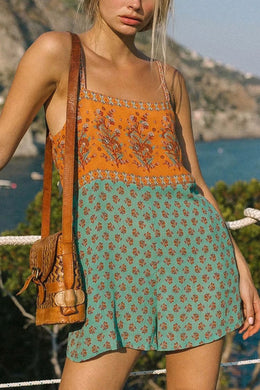 Boho Jumpsuit, Romper, Playsuit, Sarafina in Sea