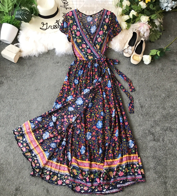 Maxi Dress, Sundress,  Wrap Dress,  Larkspur in Navy