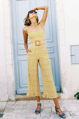 Boho Jumpsuit, Romper, Playsuit, Retro Miss Yellow Daisy