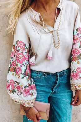 Boho Blouse,  Embroidery Cleo