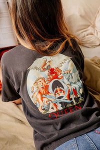 Boho Tee, Vintage T Shirt, The Queen