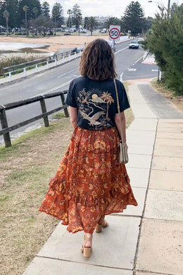 Boho Skirt, Copper Rose