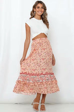 Load image into Gallery viewer, Boho Skirt, Maxi Skirt, Wild Floral Lily in Pink