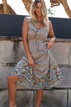 Load image into Gallery viewer, Midi Dress, Boho Dress, Wild Floral Ophelia Ruffle in Dusty