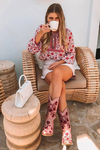 Boho Blouse, Muse in Rose