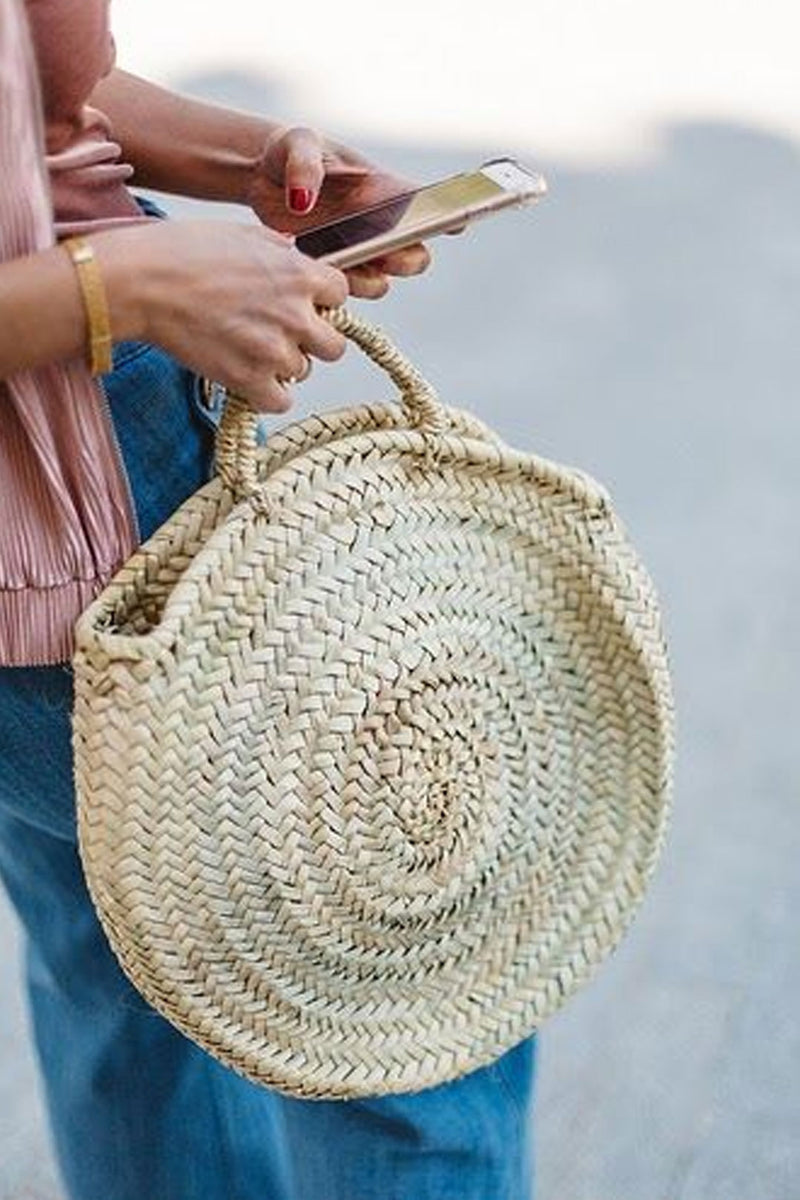 Boho Bag, Woven Straw Round Bag, Jane