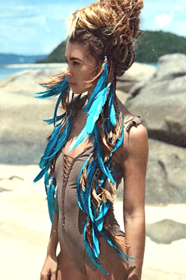 Boho Feather Headband, Gypsy Dream