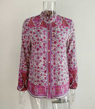 Load image into Gallery viewer, Boho Blouse, Jasmine in Pink
