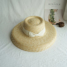 Load image into Gallery viewer, Boho Hat, Straw Hat, Floppy Vintage Hat, Bow