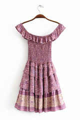 Mini Dress, Boho Dress, Playdress, Dahlia in Mauve