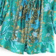 Load image into Gallery viewer, Boho Blouse, Ilona Fresh Green