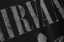 Load image into Gallery viewer, Boho Tee, Vintage T Shirt, Nirvana in Black