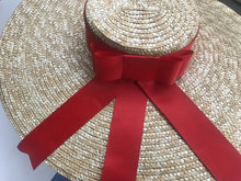 Load image into Gallery viewer, Boho Hat, Sun Hat, Beach Hat, Wide Brim Straw Hat, Bow