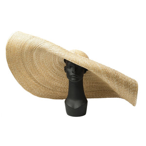 Boho Hat, Sun Hat, Beach Hat, Extra Large Wide Brim Straw Hat (45 cm)