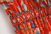 Load image into Gallery viewer, Boho Jumpsuit, Pantsuit, Marigold in Orange