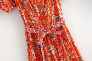 Boho Jumpsuit, Pantsuit, Marigold in Orange