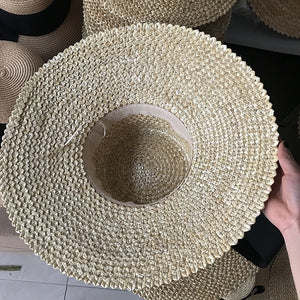 Boho Hat, Sun Hat, Beach Hat, Wide Brim Straw Hat
