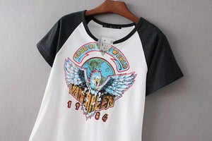 Boho Tee, Vintage T Shirt, the Van Halen