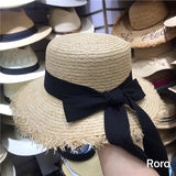 Boho Hat, Sun Hat, Beach Hat, Friged Wide Brim Straw Hat, Sweet