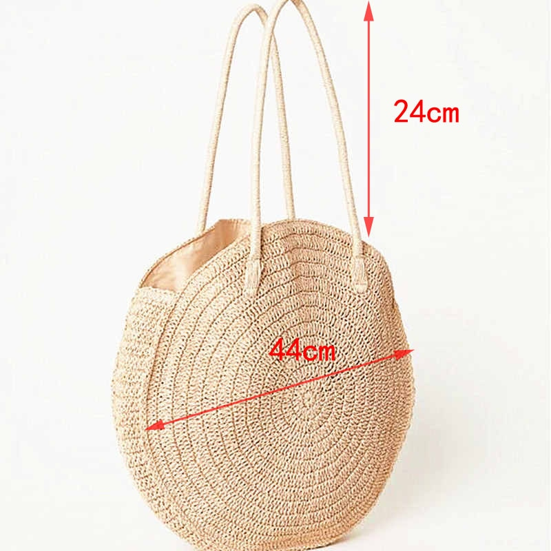 Boho Bag, Woven  Straw Rope Tote Bag, Mahala