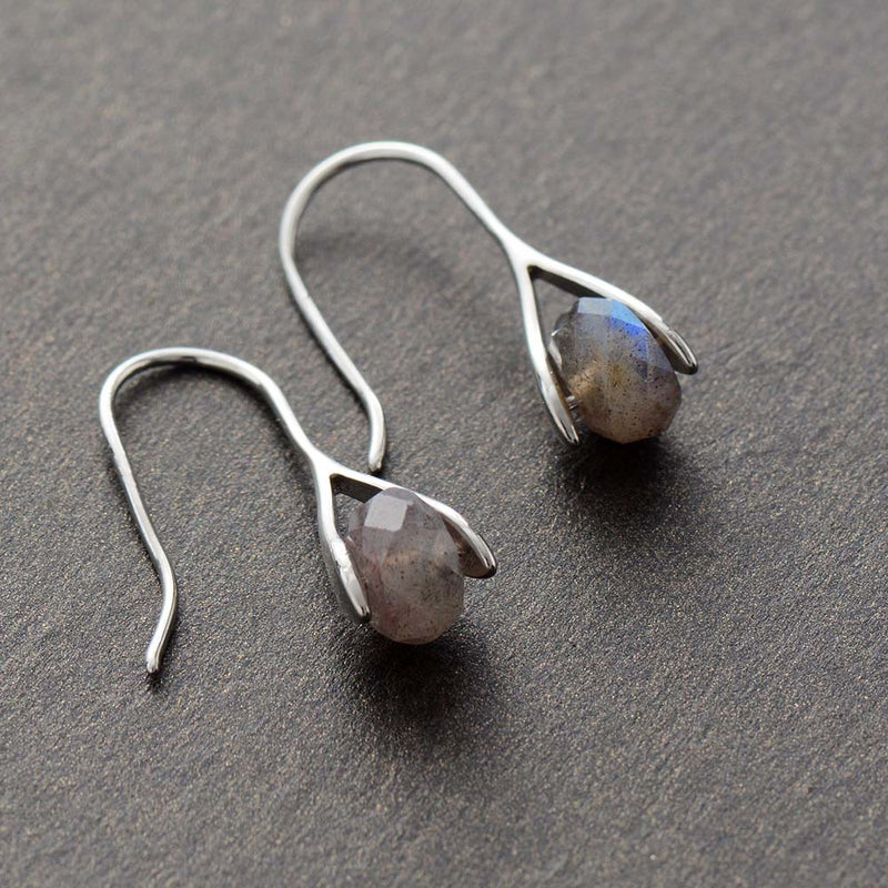 Boho Earrings, Dangle Earrings, Labradorite