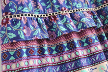 Load image into Gallery viewer, Boho Skirt, Maxi Skirt, Aurora Dahlia in Purple