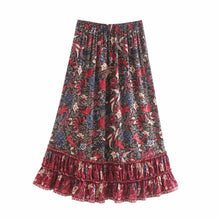 Load image into Gallery viewer, Boho Skirt, Maxi Skirt, Ilona Midnight
