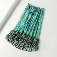 Load image into Gallery viewer, Boho Skirt, Maxi Skirt, Ilona Fresh Green