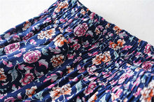 Load image into Gallery viewer, Boho Skirt, Maxi Skirt, Wild Floral Rosa Violet