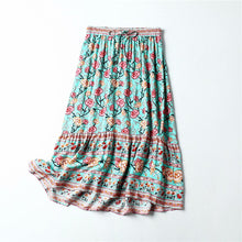 Load image into Gallery viewer, Boho Skirt, Maxi Skirt, Muse in Green