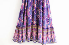 Load image into Gallery viewer, Midi Dress, Boho Dress, Sundress Bianca in Purple